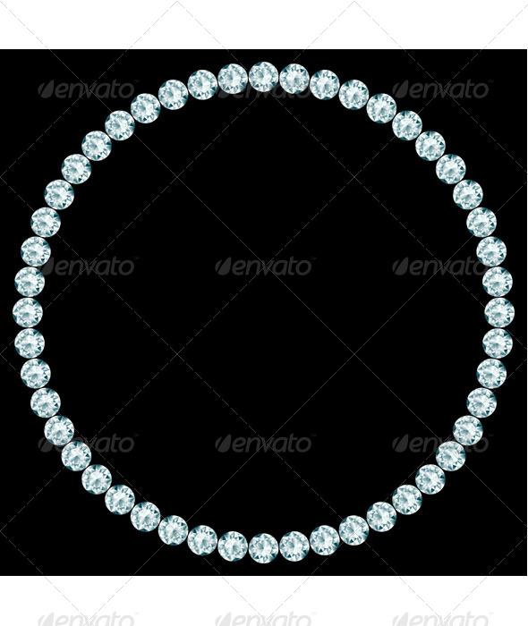 GraphicRiver Round Frame Made of Diamonds 7181099