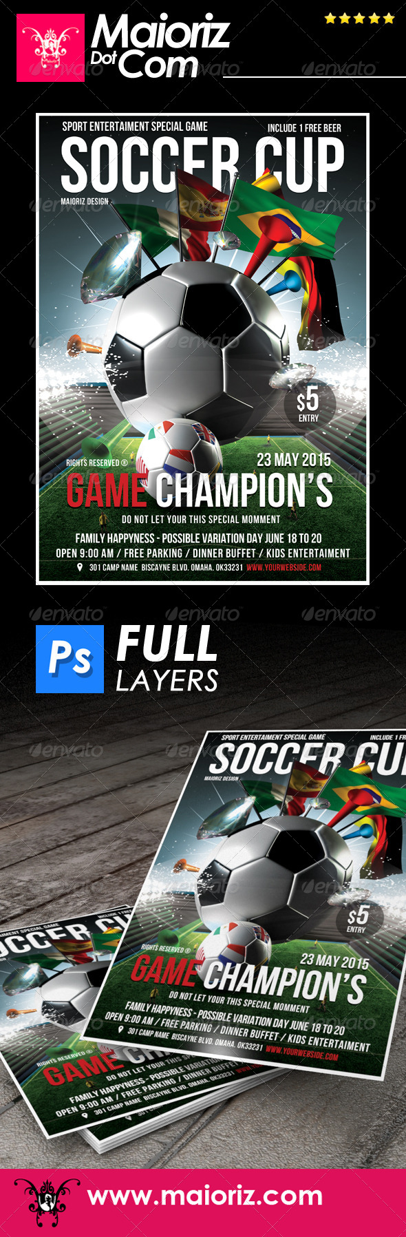 GraphicRiver 2014 Soccer Cup Flyer 7681791