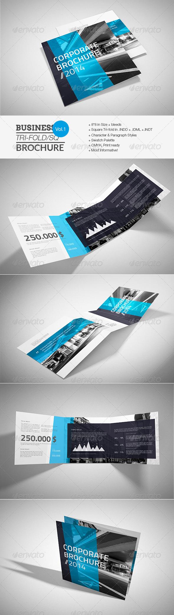 GraphicRiver Corporate Square Trifold Brochure 7666590