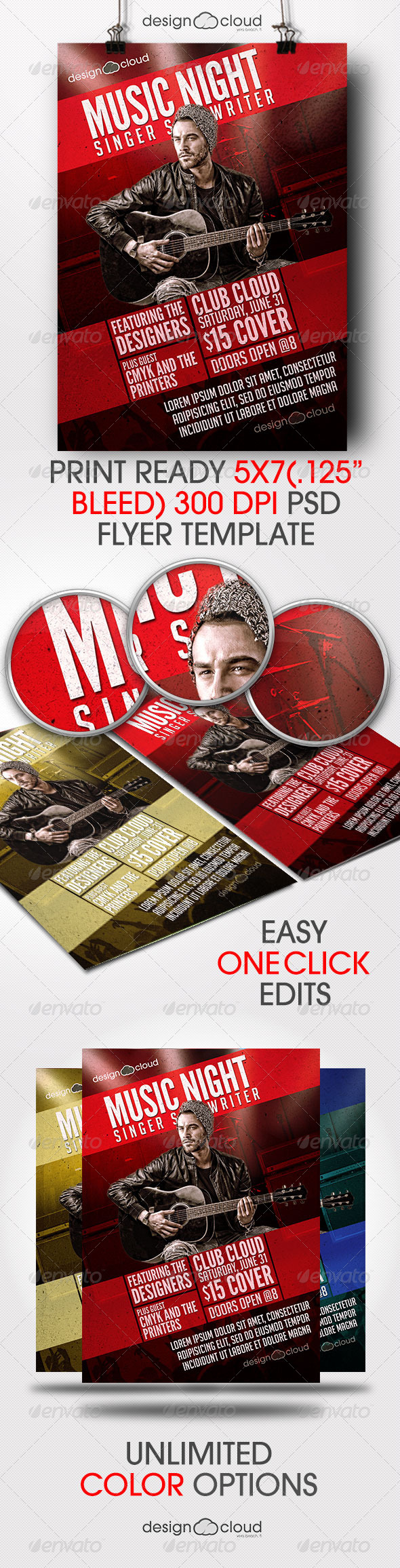 GraphicRiver Singer Songwriter Music Night Flyer Template 7681895