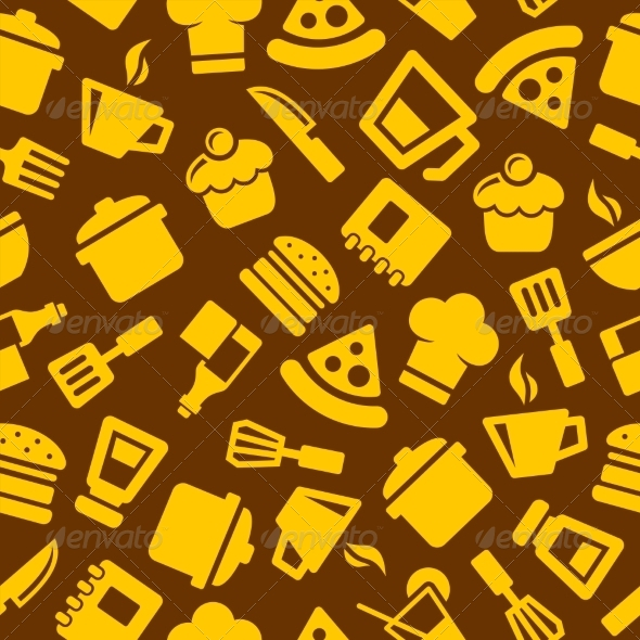 GraphicRiver Seamless Kitchen Pattern 7681928