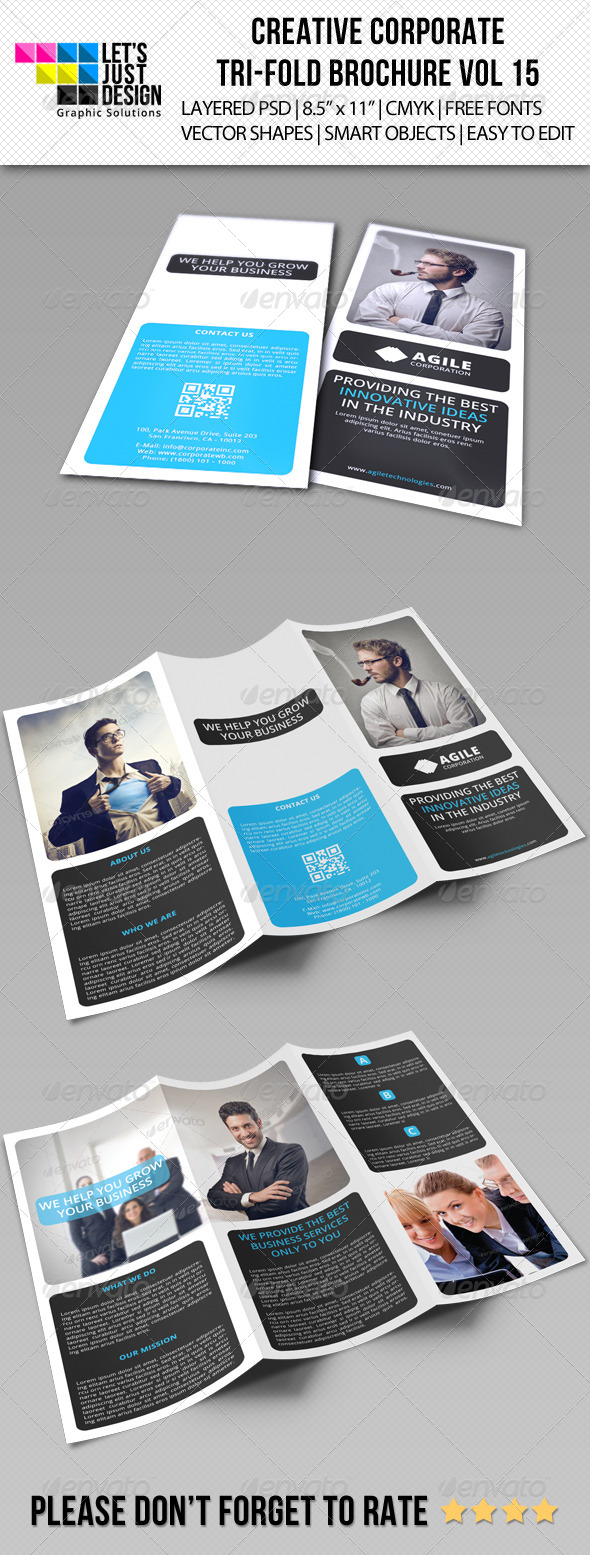 GraphicRiver Creative Corporate Tri-Fold Brochure Vol 15 7682185