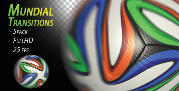 VideoHive Soccer Ball Mundial Transitions 7682188