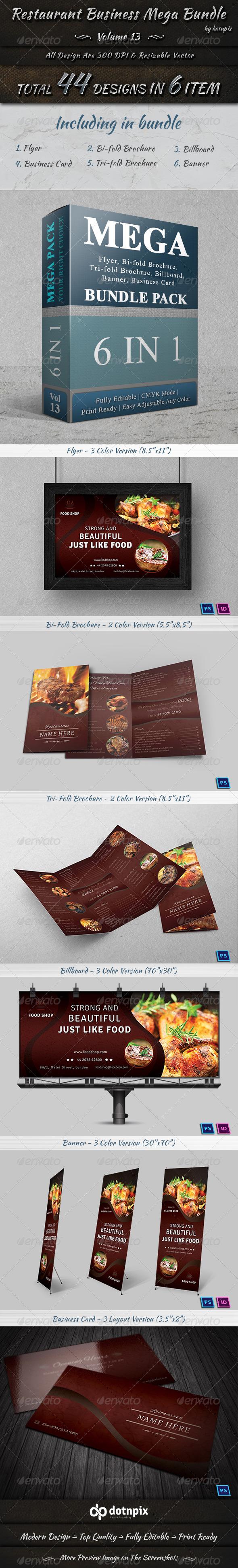 GraphicRiver Restaurant Business Mega Bundle Volume 13 7682872