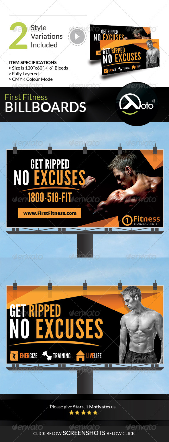 GraphicRiver First Fitness Body Weight Training Billboards 7683194
