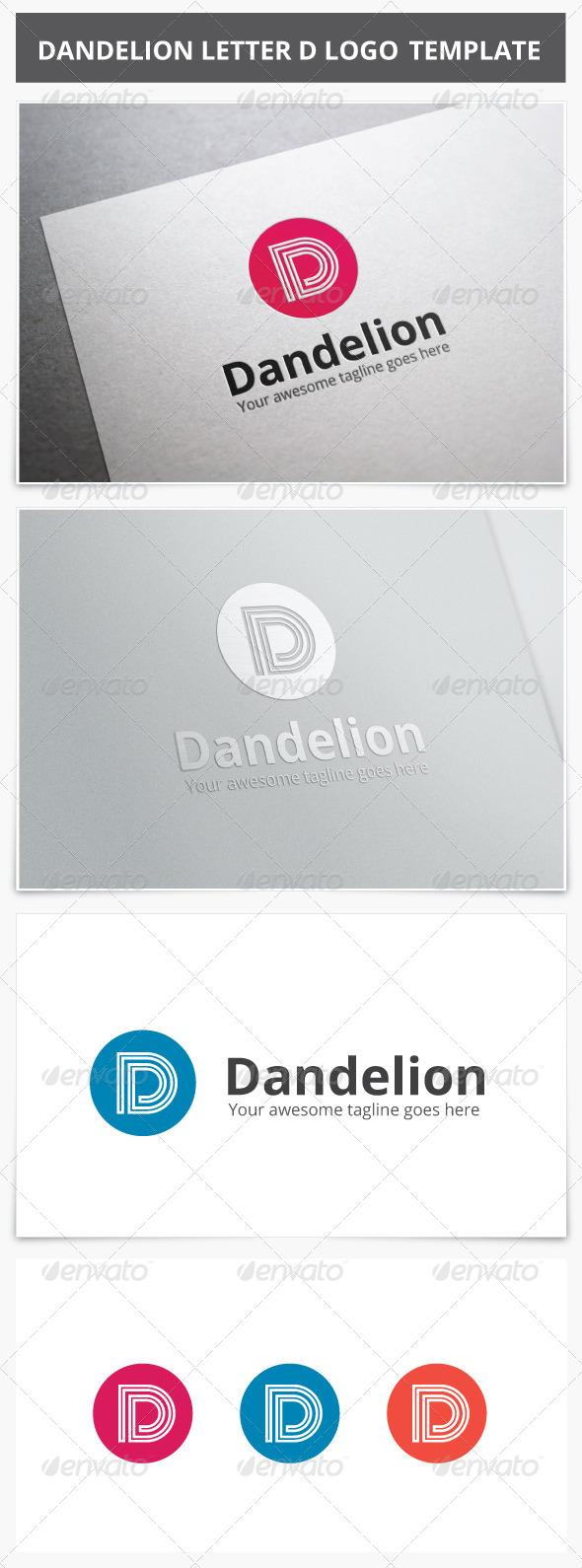GraphicRiver Dandelion Letter D Logo 7683303