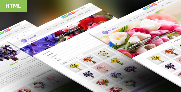 Bouquets - Responsive HTML5 eCommerce Template