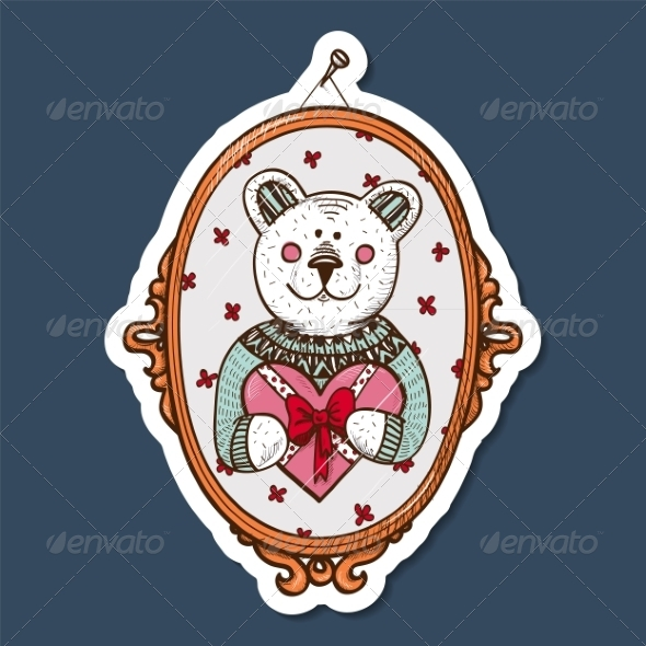 GraphicRiver Teddy Bear with Heart Present 7683477
