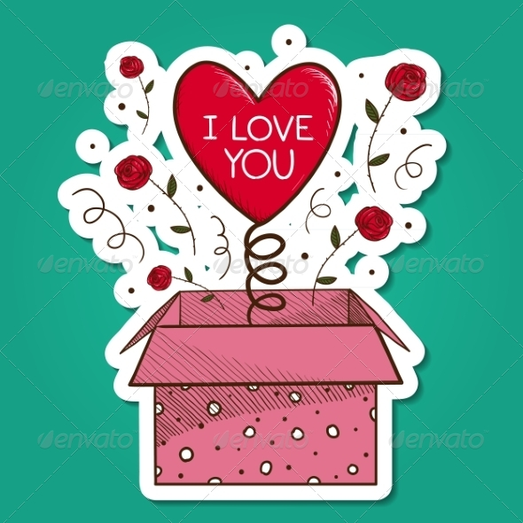 GraphicRiver Present Box with Heart 7683544