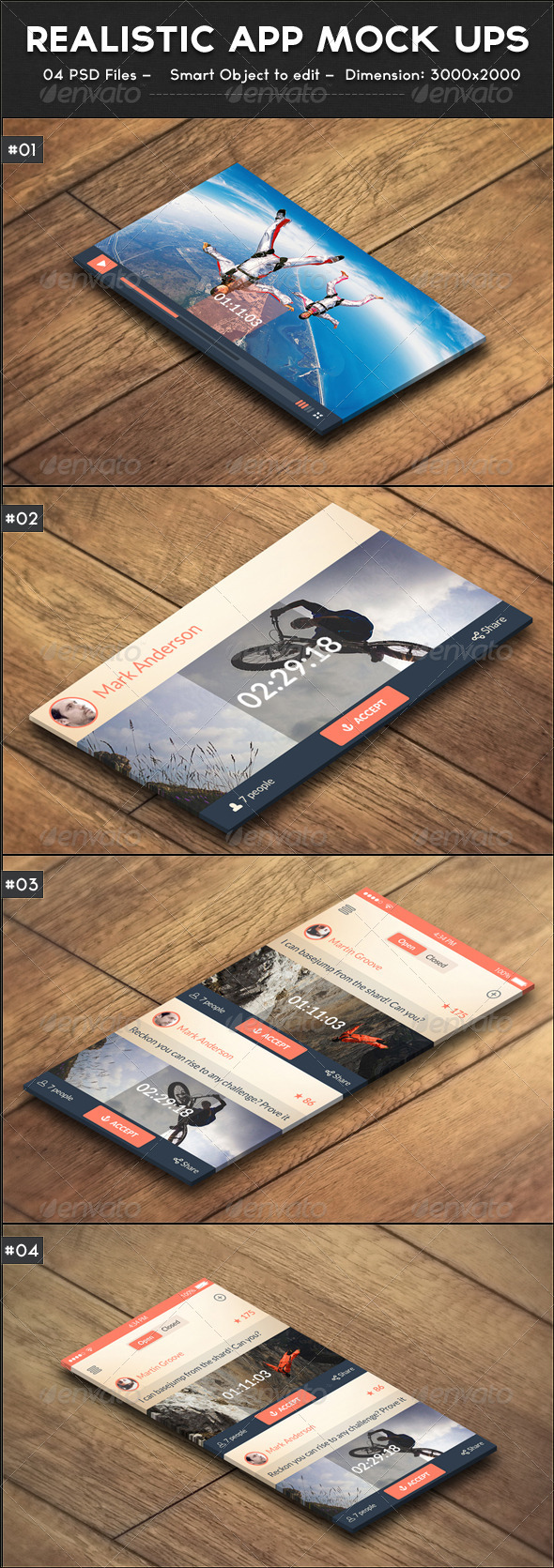 GraphicRiver Realistic App Mock ups 7683623