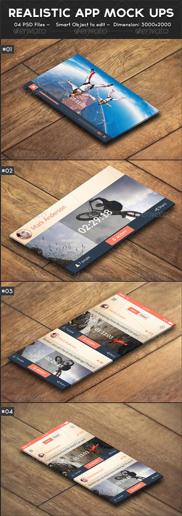 GraphicRiver Realistic App Mock ups 7683623