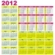 2012 calendars. Starts Sunday - GraphicRiver Item for Sale
