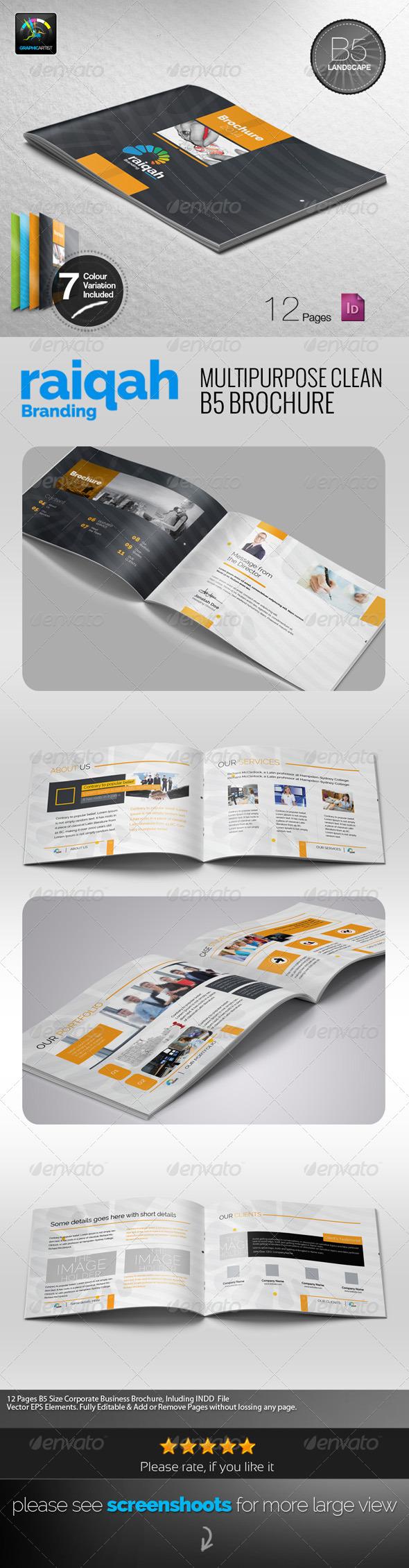 GraphicRiver Raiqah Multipurpose B5 Brochure 7638414
