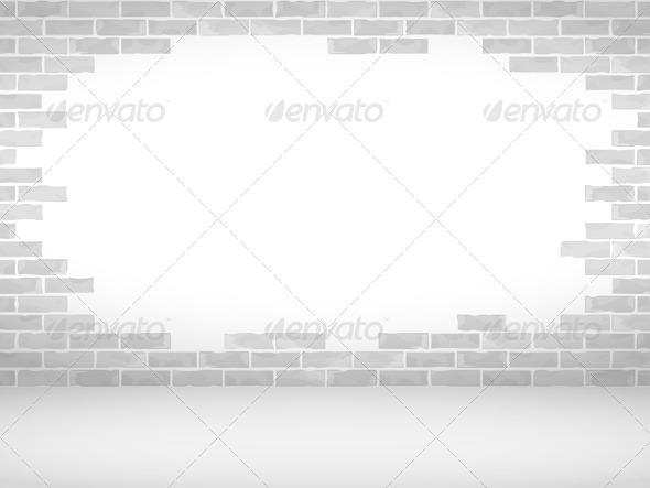 GraphicRiver Broken Brick Wall 7684476