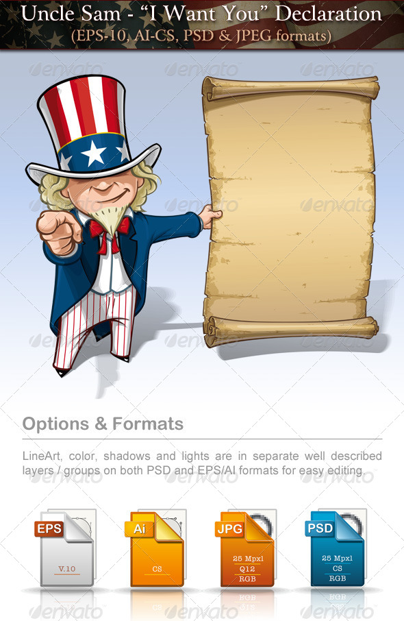 GraphicRiver Uncle Sam I Want You Declaration 7684705