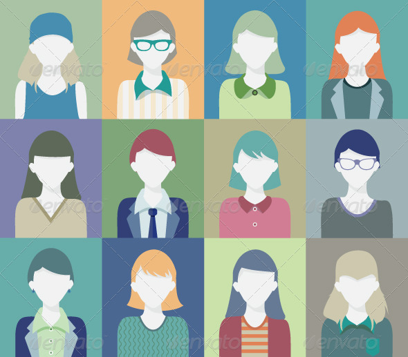 GraphicRiver People who are Women 7684714
