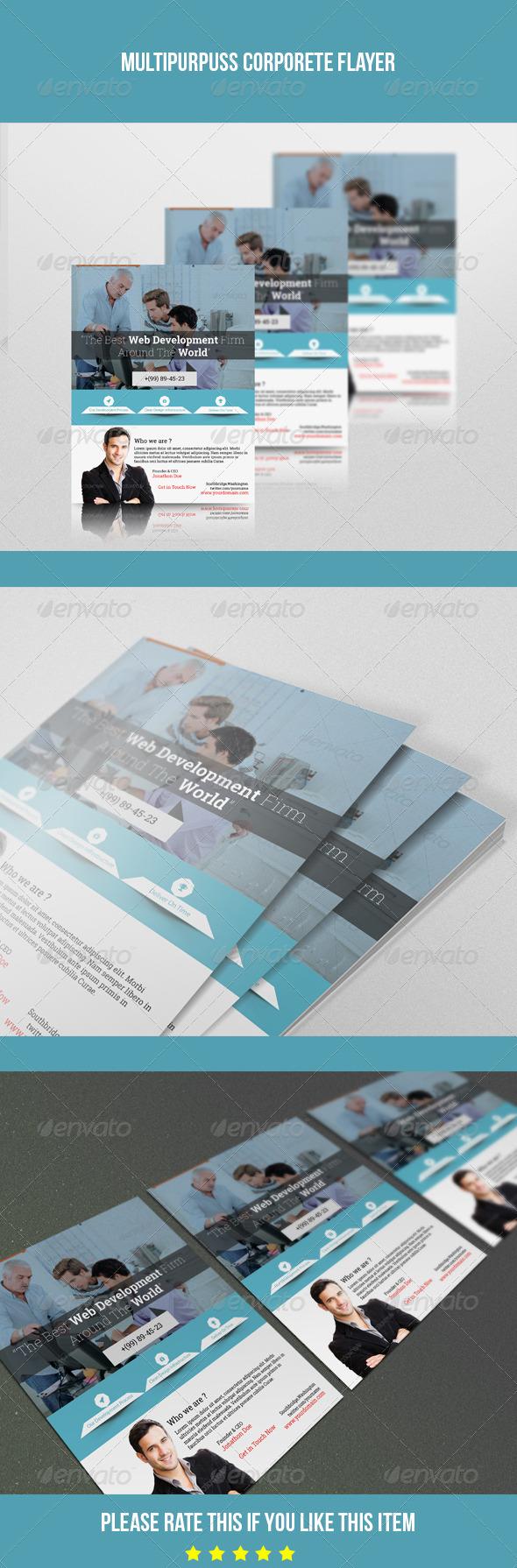 GraphicRiver Fresh Corporate Flyer 7684861