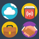 Modern Flat Business IT Icons - GraphicRiver Item for Sale