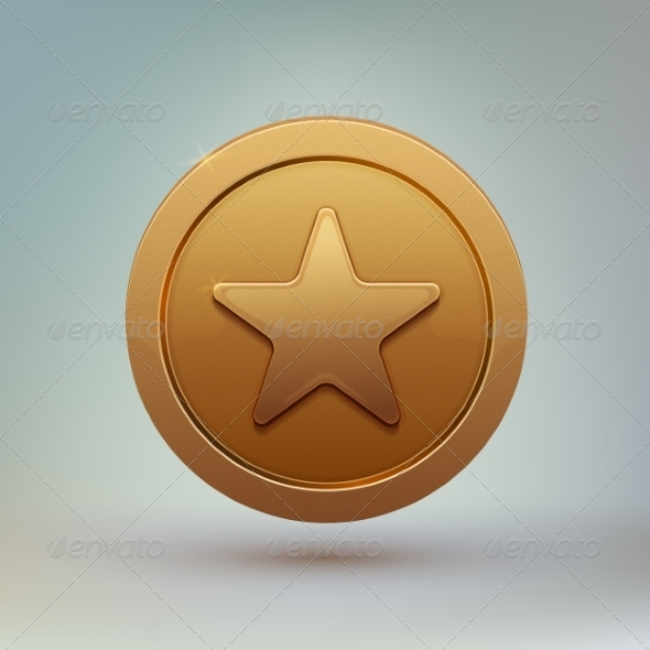 GraphicRiver Coin with Star 7685048