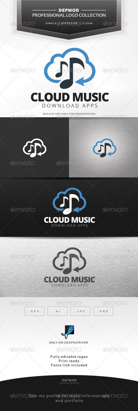 GraphicRiver Cloud Music V.02 Logo 7685105