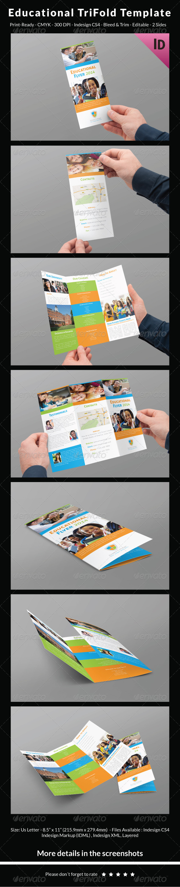 GraphicRiver Educational Trifold Template 7685163