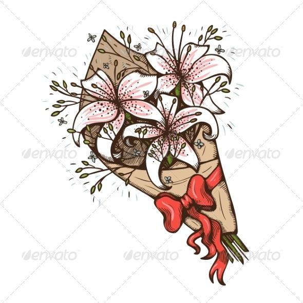 GraphicRiver Flowers Bouquet 7685689