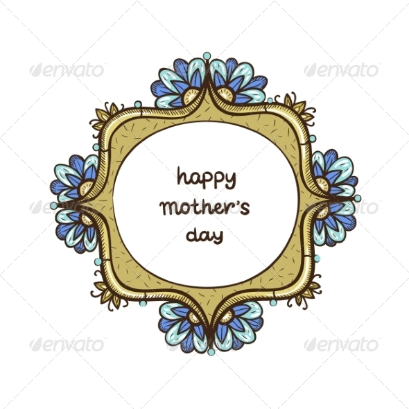 Frame with Text for Mother s Day