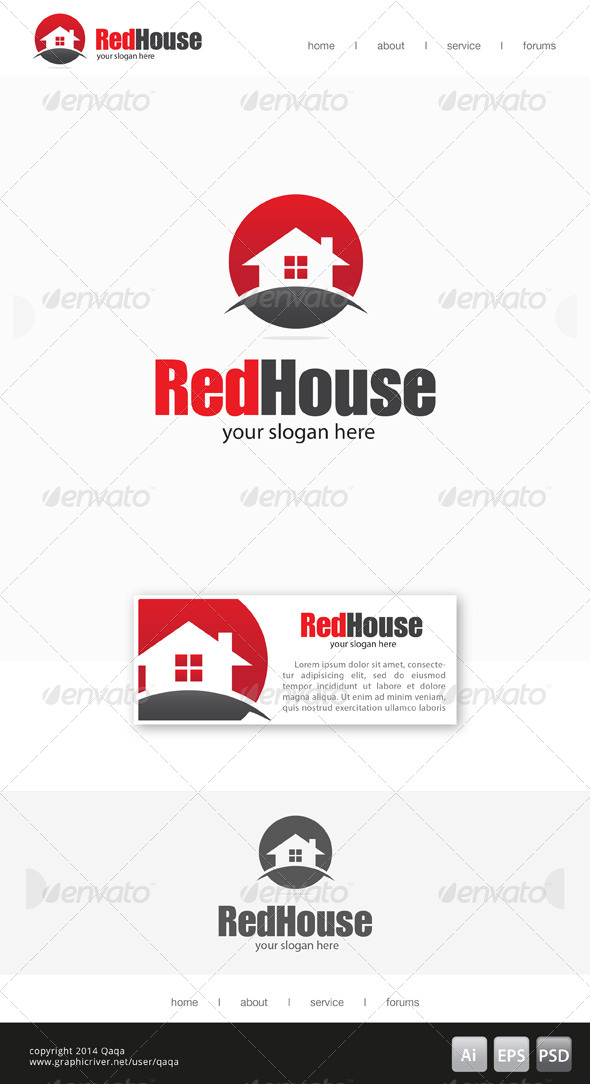 GraphicRiver Red House Logo 03 7685840