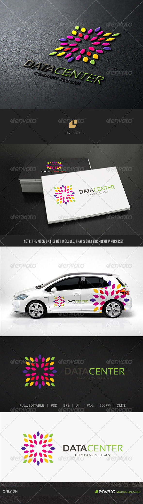 Data Center II - Nature Logo Templates