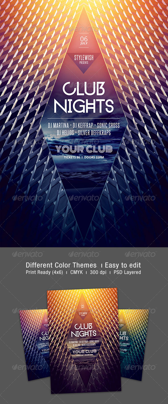 GraphicRiver Club Nights Flyer 7686356