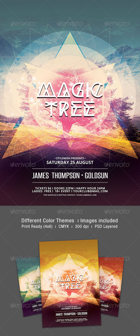 GraphicRiver Magic Tree Flyer 7686663