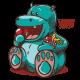 Vector stock of a cute hungry hippopotamus