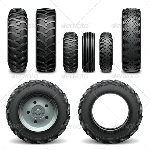 GraphicRiver Tractor Tires 7686759