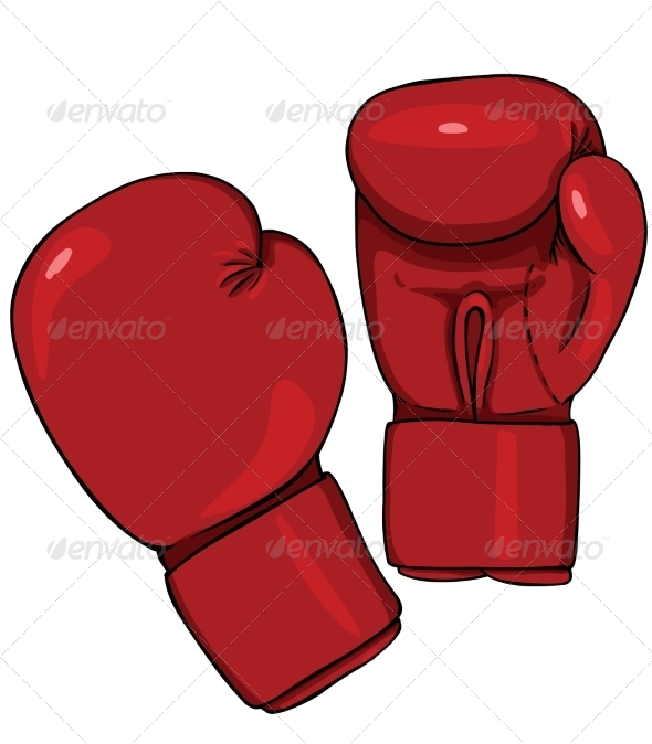 GraphicRiver Cartoon Red Boxing Gloves 7686790