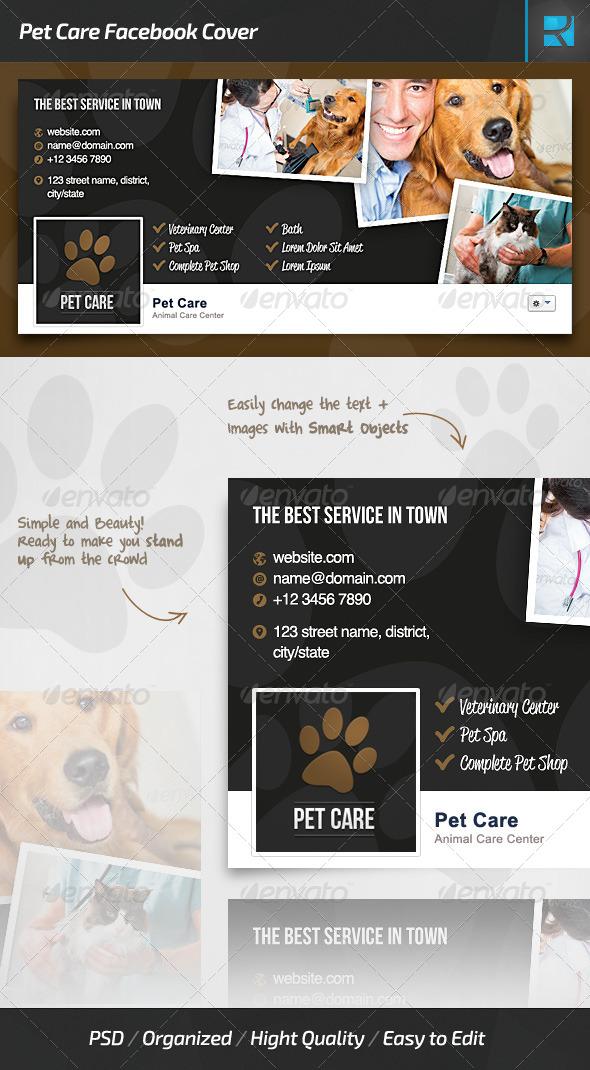 GraphicRiver Pet Care Facebook Cover 7686893