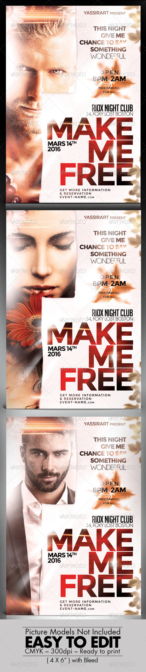 GraphicRiver Make Me Free Flyer 7687118
