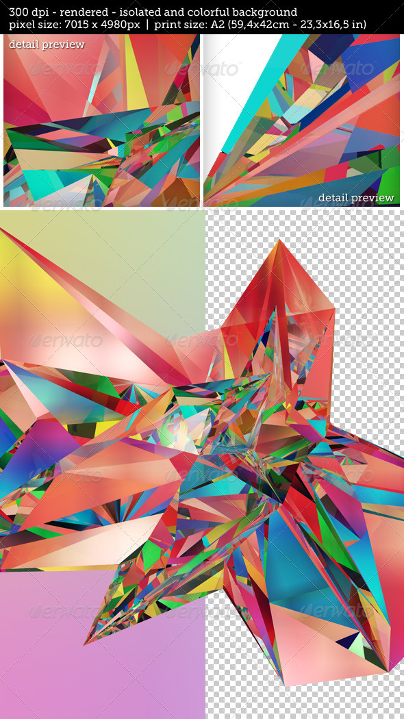 GraphicRiver Isolated Abstract Fractal Illustration 7687173