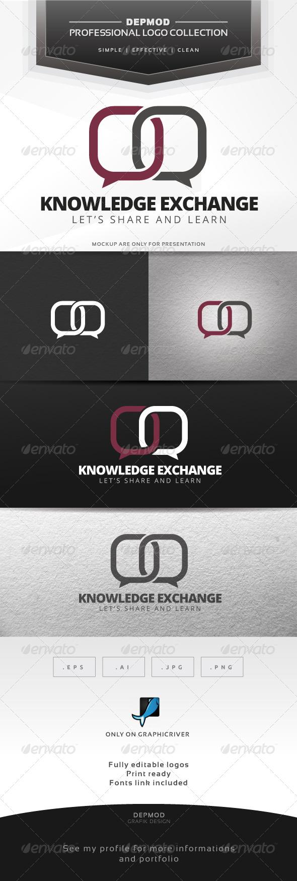 GraphicRiver Knowledge Exchange Logo 7687223