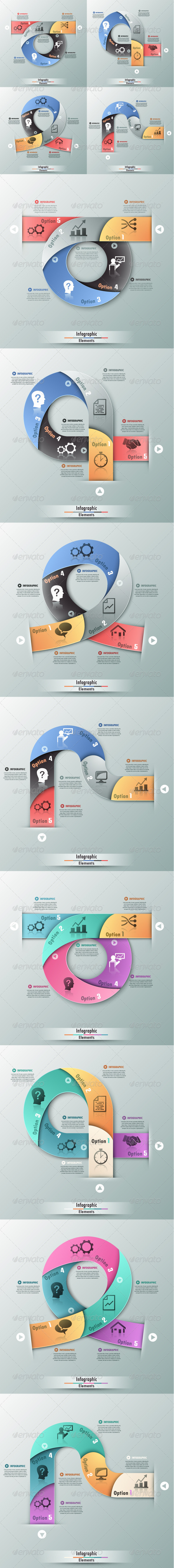 GraphicRiver Set Of 4 Infographic Banners In 2 Colors 7687387