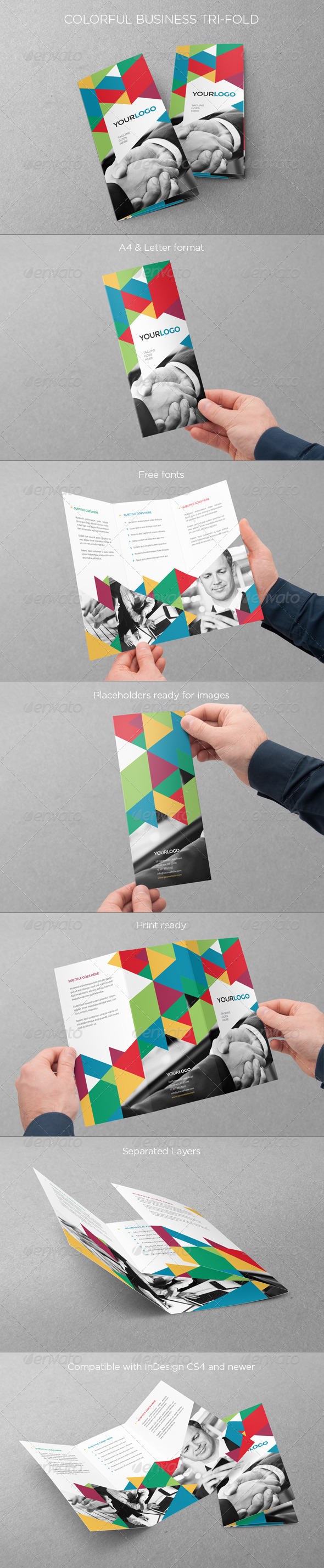GraphicRiver Colorful Business Trifold 7687440