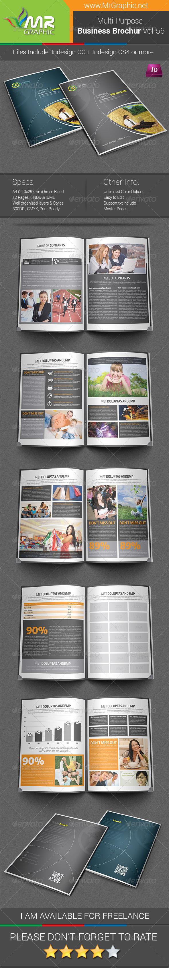 GraphicRiver Multipurpose Business Brochure Template Vol-56 7687441