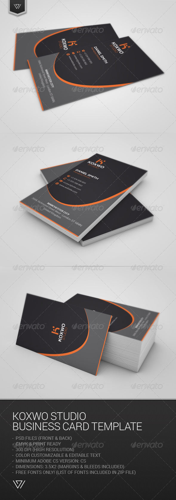 GraphicRiver Koxwo Studio Business Card 7670839