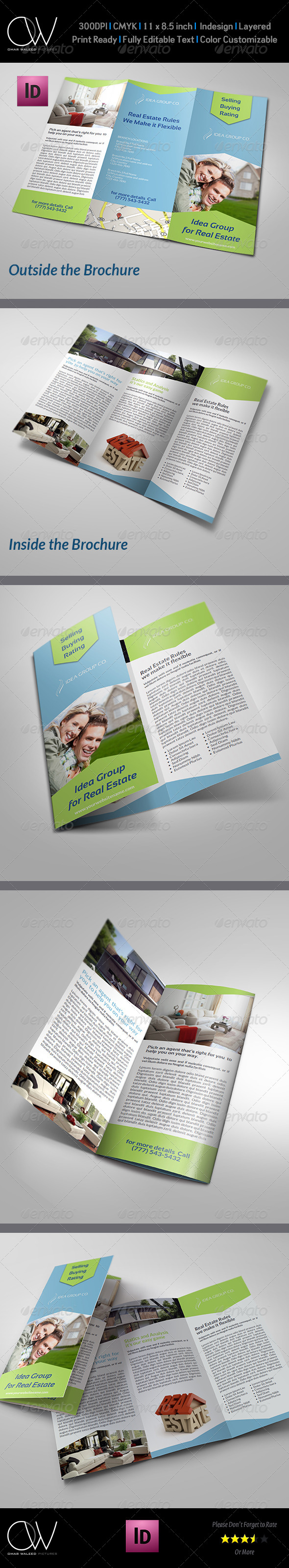 GraphicRiver Real Estate Tri-Fold Brochure Template 7687547