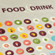 Set of Flat Design Icons for Food and Drink - GraphicRiver Item for Sale