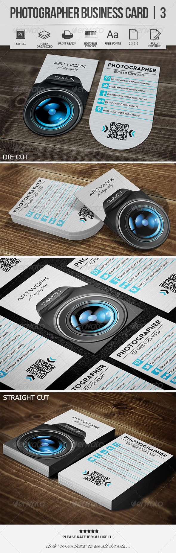 GraphicRiver Photographer Business Card 3 7687962