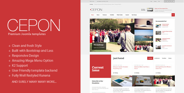 Cepon - News and Magazine Joomla Templates - Blog / Magazine Joomla