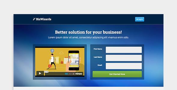 BizWizards - Landing Page