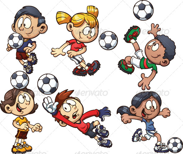 GraphicRiver Soccer Kids 7688202