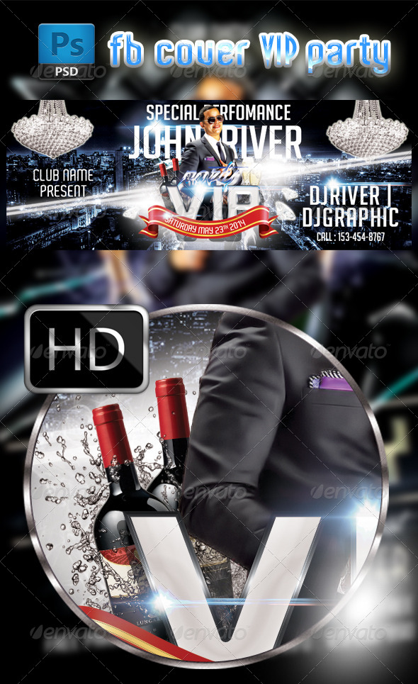 GraphicRiver VIP party FB Cover Template 7688217