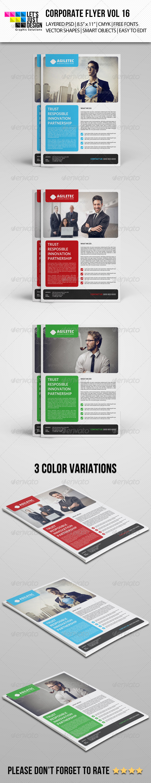 GraphicRiver Corporate Flyer Template Vol 16 7688267
